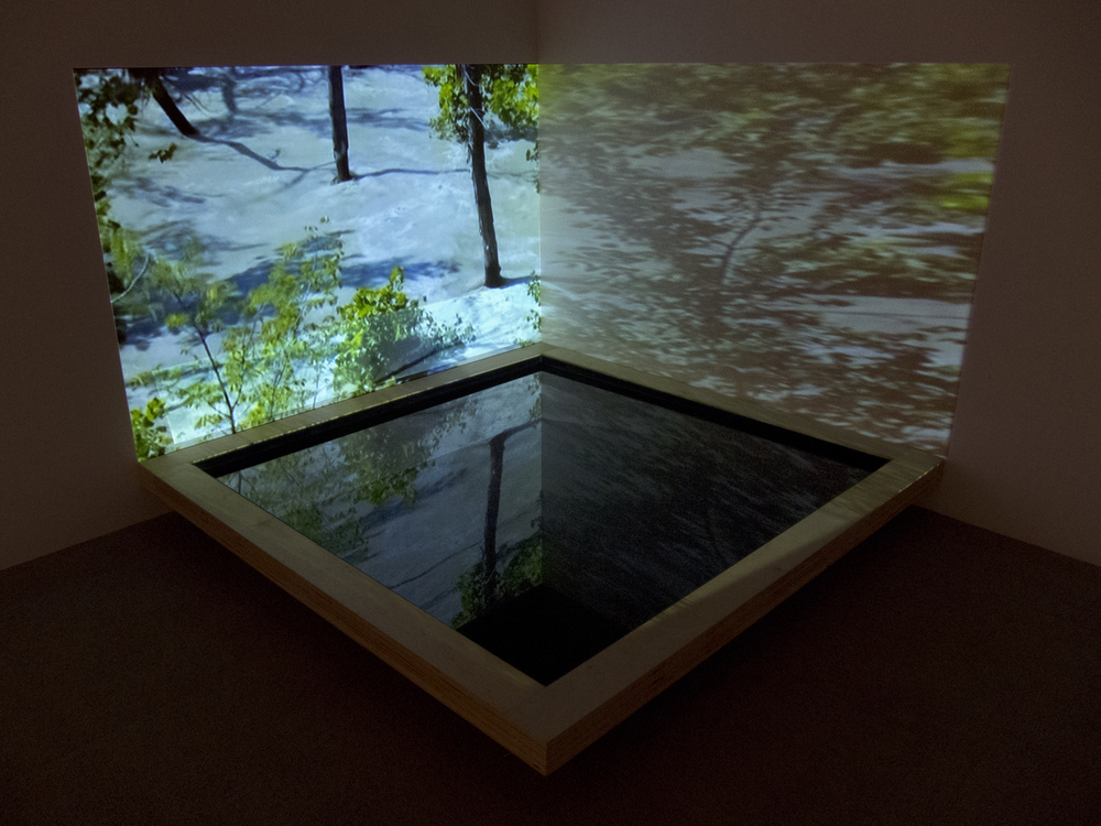 Double Tank Projection Reflection 1   Acrylic, water, video and wood