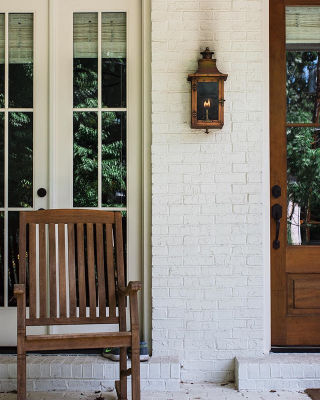 Where grandpa used to sit . . . #nostalgia #jwhallbuild #upperwestside #homedecor #porchdecor #porch #frontporch #brick #comfortable #farmhouse #underwoodhills #atlanta #westside #home #builder