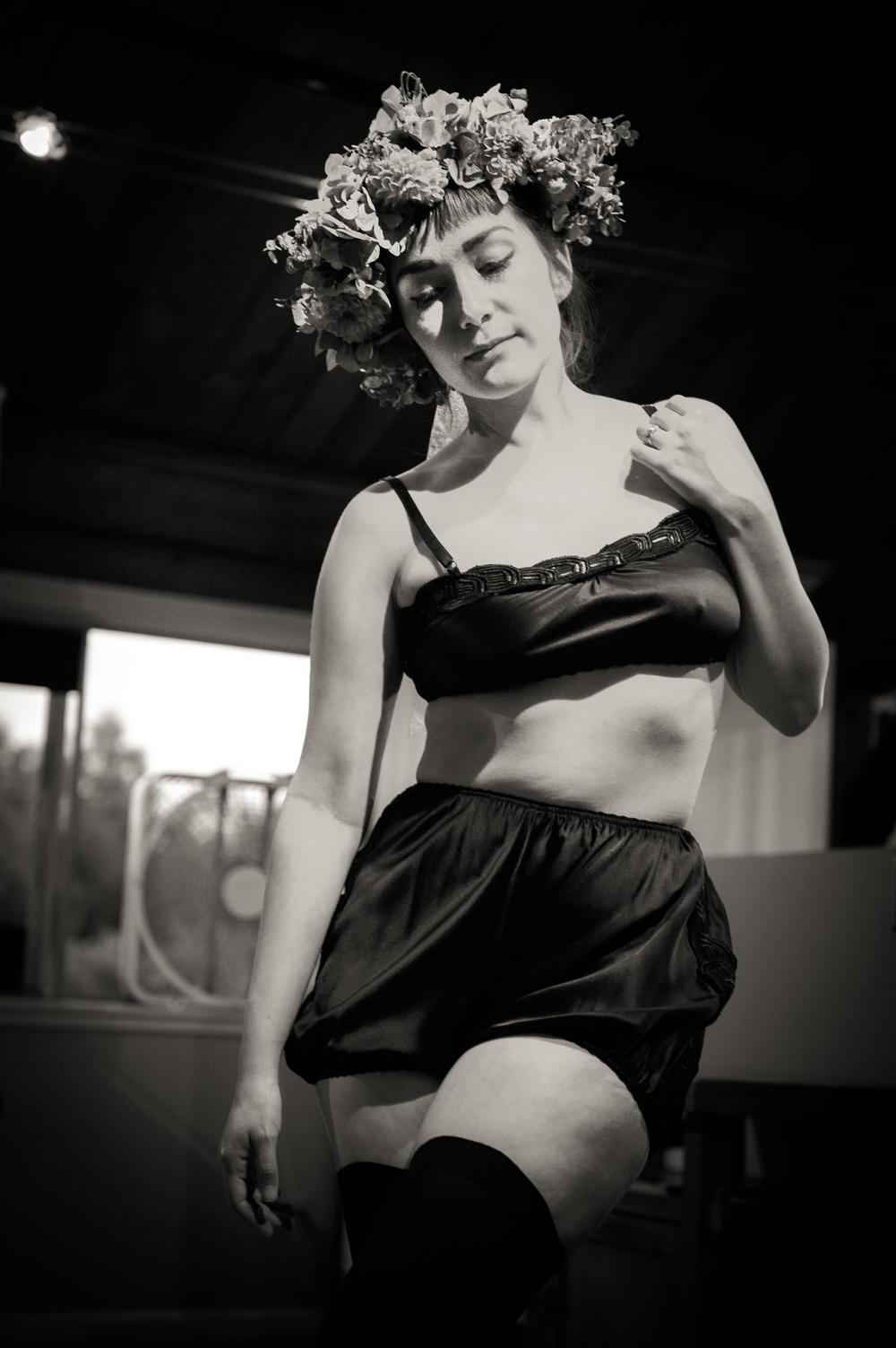 Blackbird Underpinnings Silk Cami & Velvet Knickers