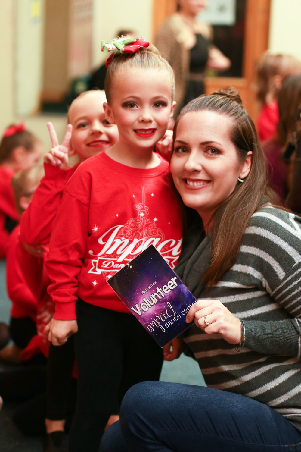 Backstage Moms at Impact Dance Center's Winter Fantasy