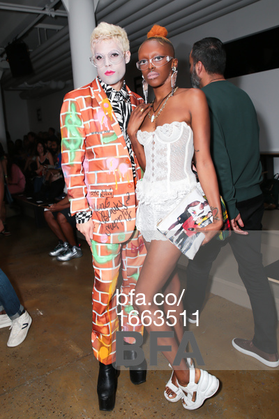 with Alees Yvon front row at Gypsy Sport SS16 Show, photo by Sam Deitch/BFA