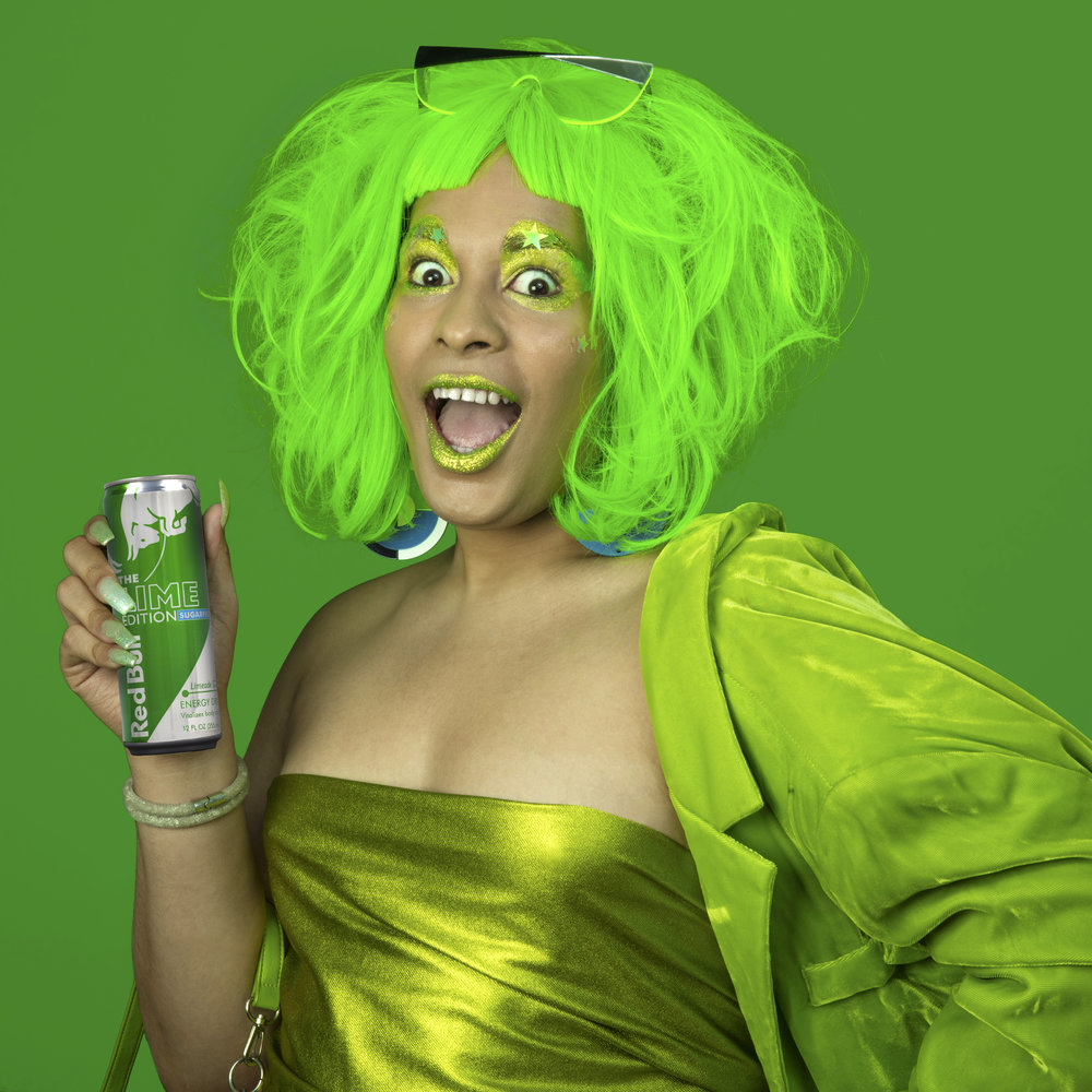 Sasha Fierce for Red Bull Lime Edition