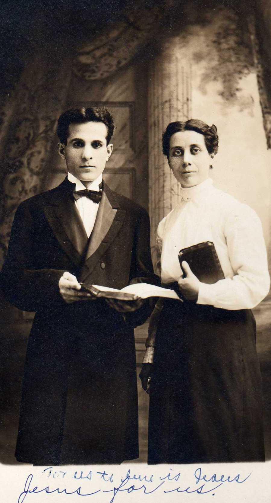 1914 Baba Mooshell David and Ruth David.jpg