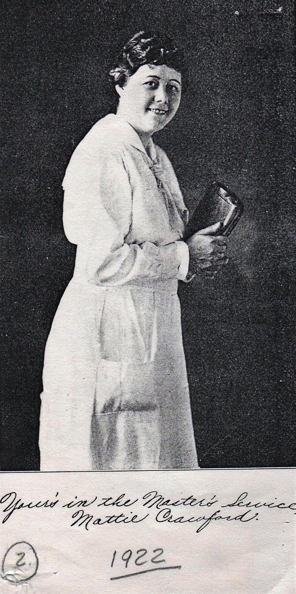 Evangelist Mattie Crawford