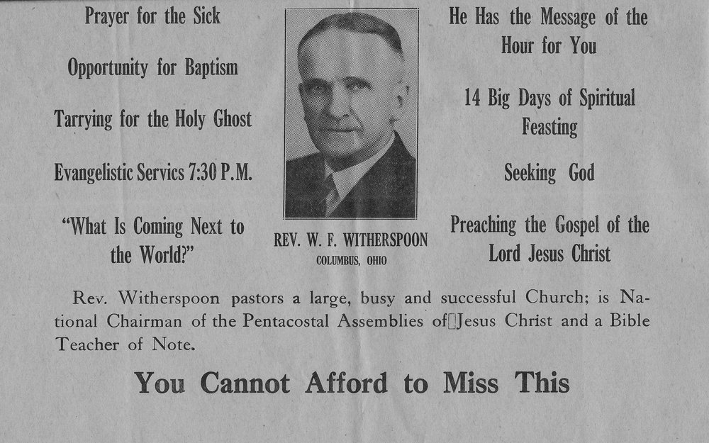 1943 Bethel Temple Church-11th Annual Bible Conference-WT Withersp.jpg