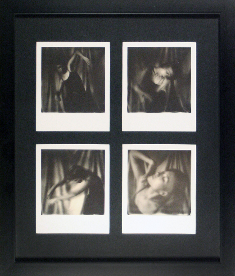 - ETHEROriginal Polaroid quardiptych in glass protected frame.600 €