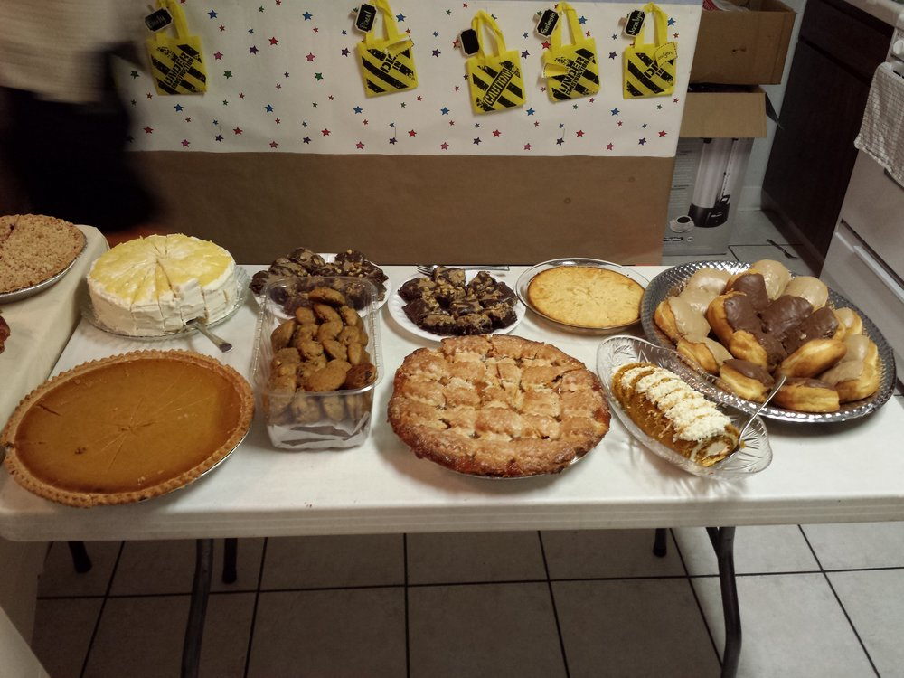 One of many dessert tables