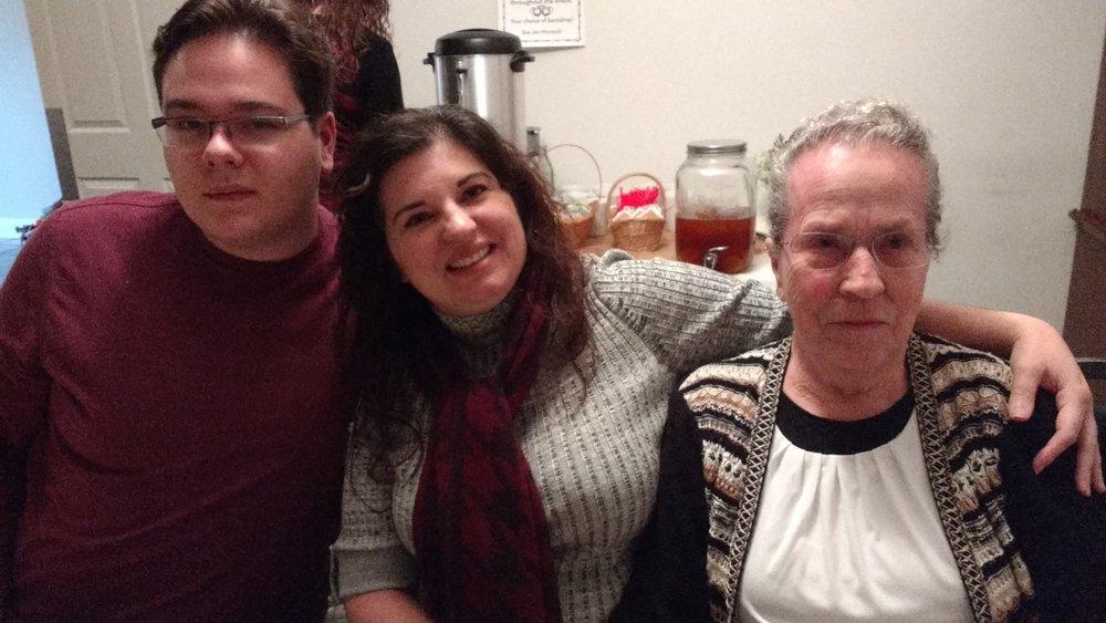 Sam, Amy and Sis. Edna