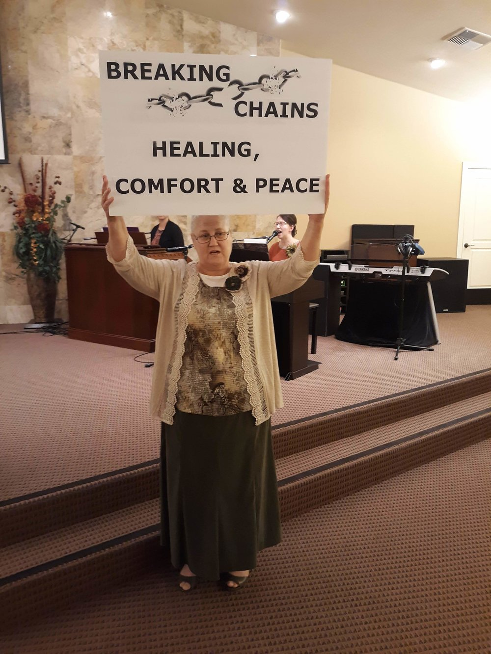 Sis. Barbara after she was filled with the Holy Ghost and baptized in Jesus Name.