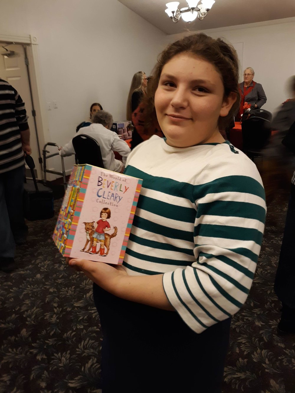 Fantasia, an avid reader, got Beverly Cleary books for Christmas