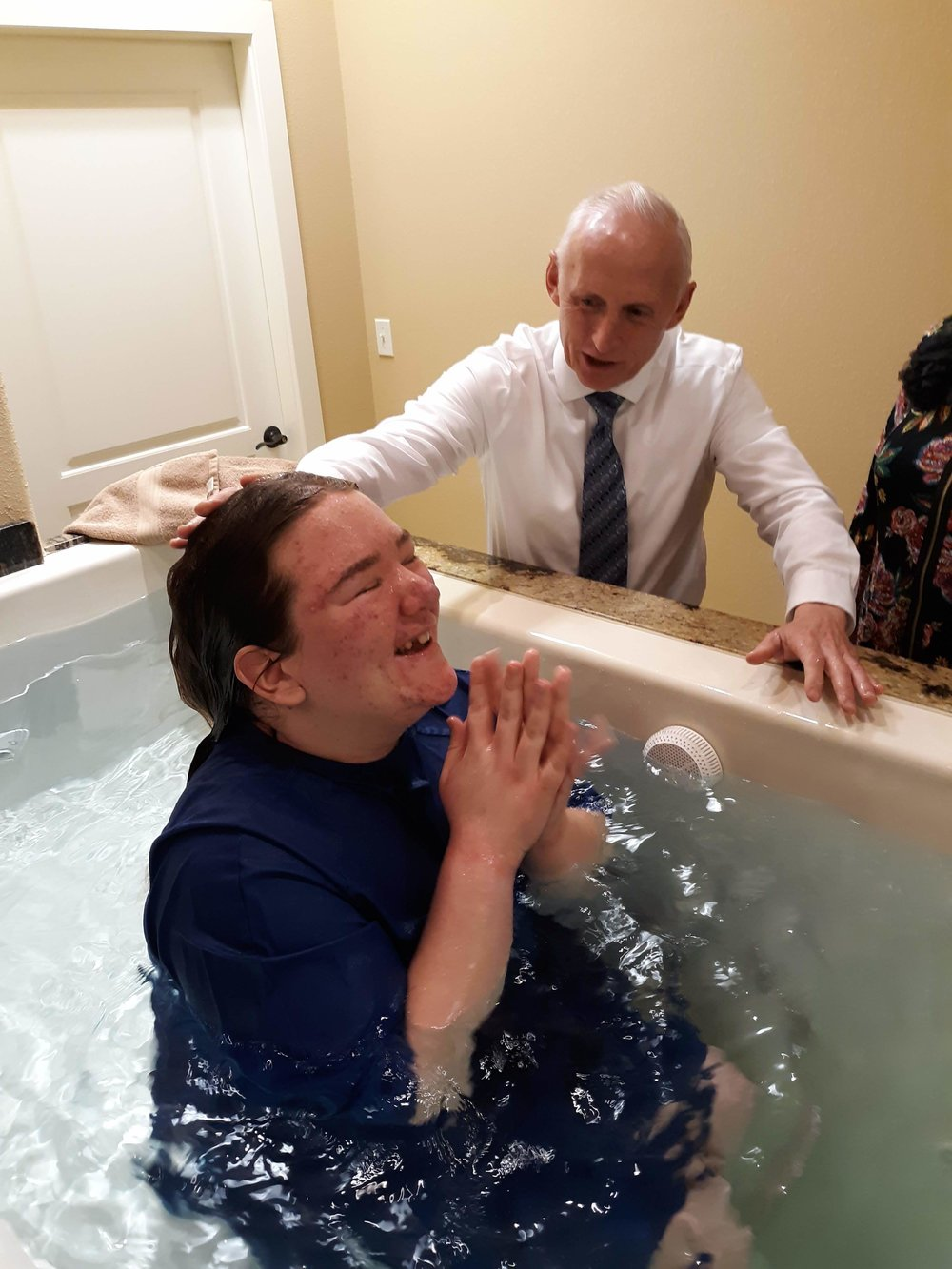 The joy of being washed clean. Thank you, Jesus!