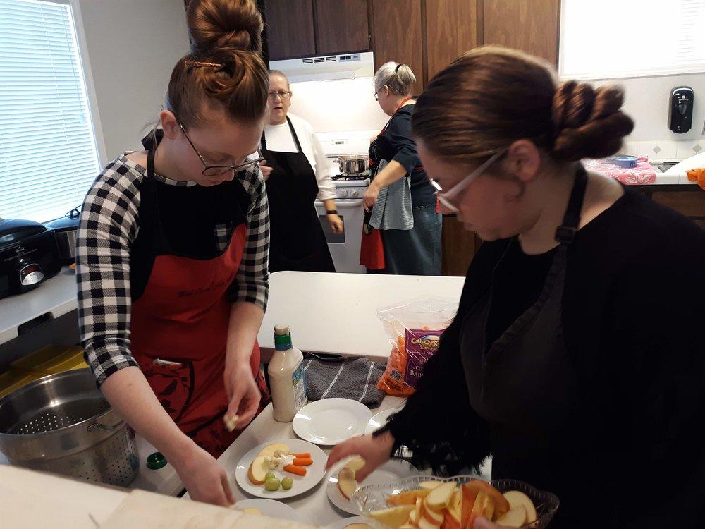 Kitchen Crew - Sis. Sarah, Sis. Denae, Sis. Debbie Ann and Sis. Barbara