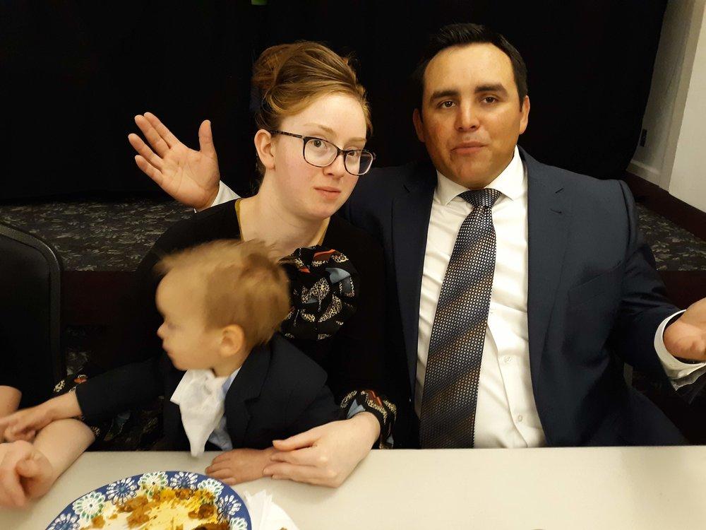 Sis. Sarah, Bro. Raul and son Wayne