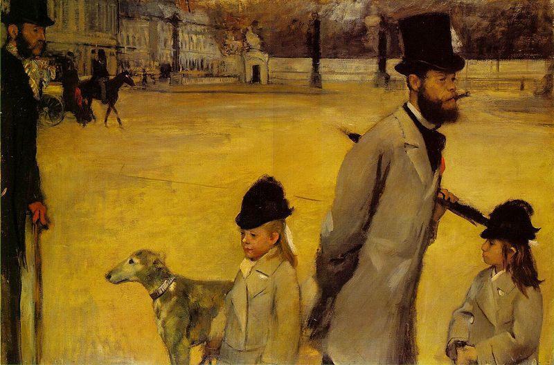 Place de la Concorde.  1875.EdgarDegas.