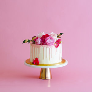 Square Pink Anna 1 Tier