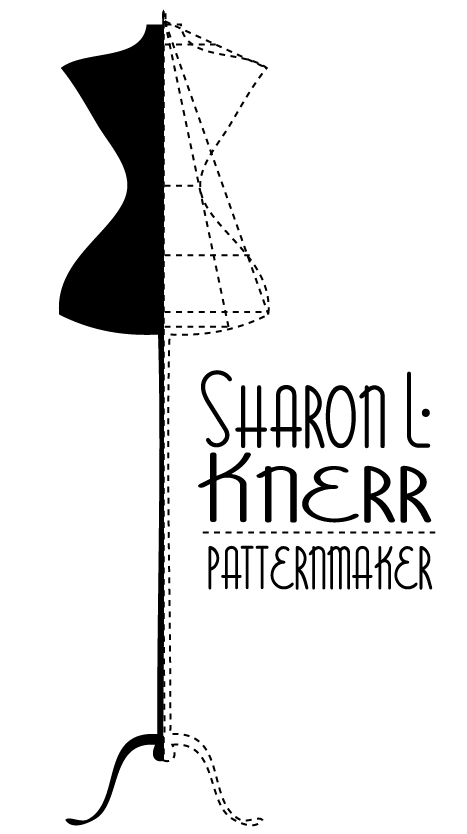 Patternmaker Logo. Inspired by the dress forms and vintage patternmaking.
