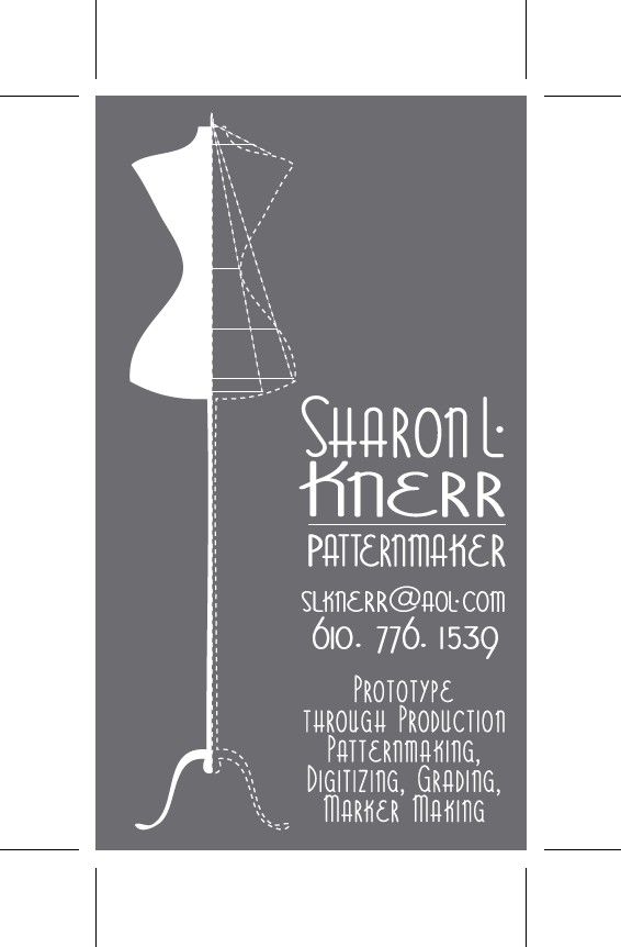 Final Business Card for patternmaker.