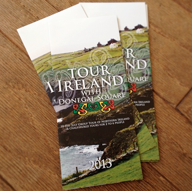 "8.5"" x 11"" Tri-fold brochure for Tour Ireland with Donegal Square"