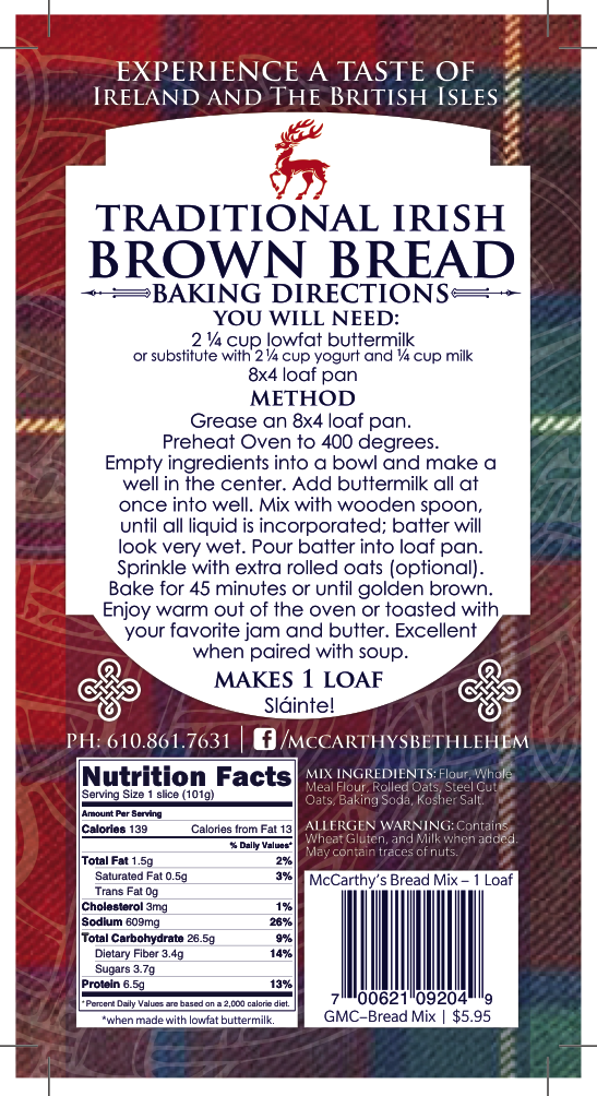 Traditional Irish Brown Bread Mix_ Back Label