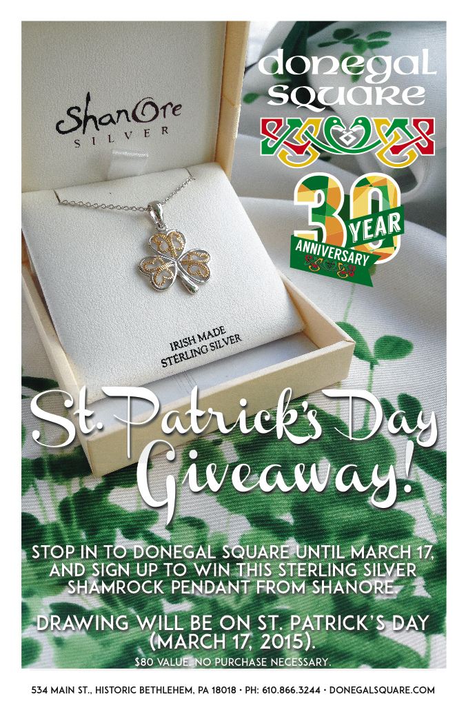 "8.5"" x 14"" Poster for St. Patrick's Day Shanore Giveaway"
