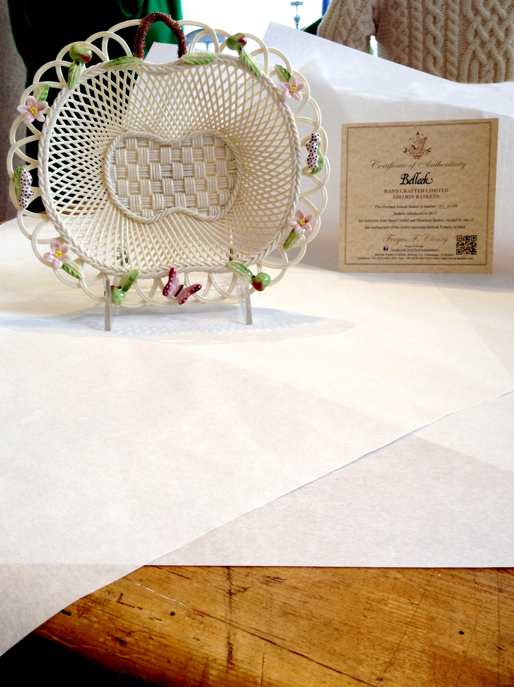 Product Photography for Belleek Mother's Day Giveaway.