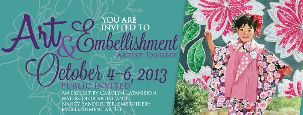 Art & Embellishment Artist Exhibit Facebook Event Image