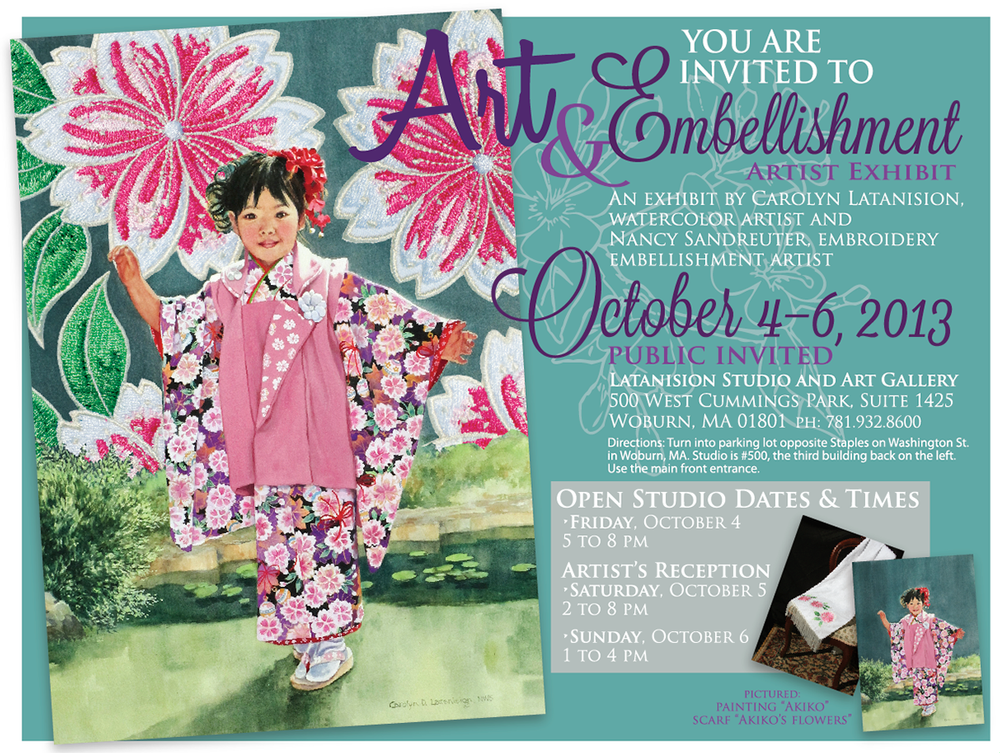 Art & Embellishment Artist Exhibit Facebook promotion image