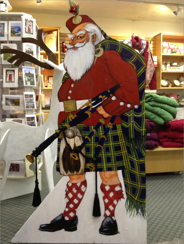 The final Kilted Santa, standing approximately 4.5' high.