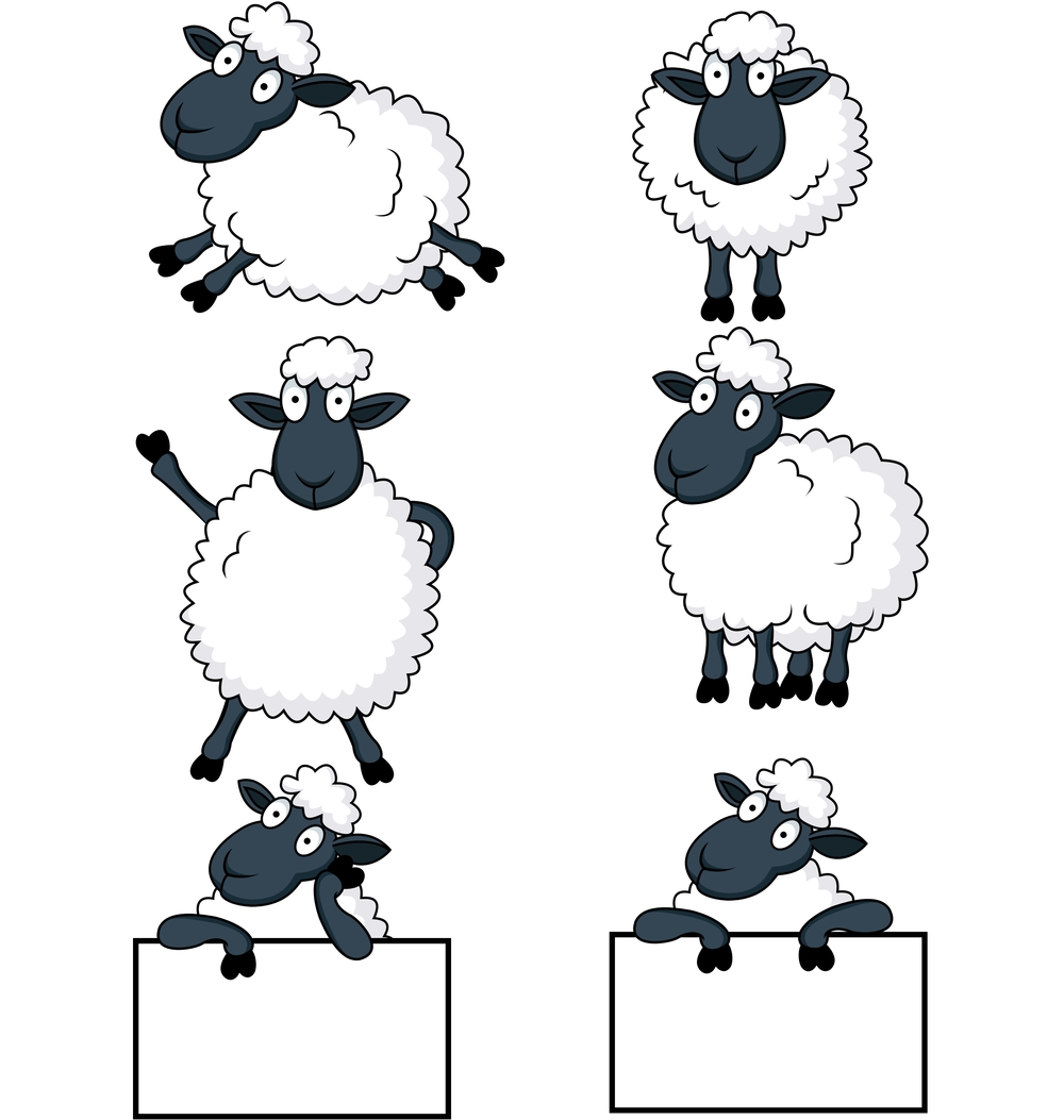 Peevish's Sheep - Vector Images  from VectorStock.com