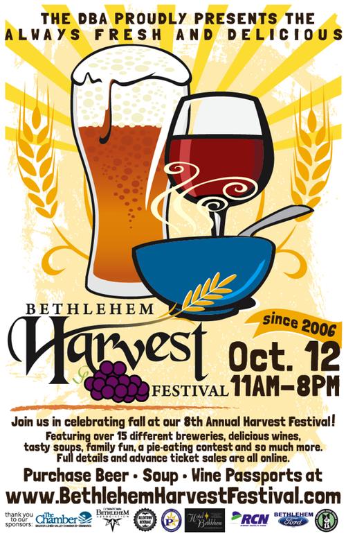 """2013 BETHLEHEM HARVEST FESTIVAL POSTER  11x17"""" Poster Design for Bethlehem Harvest Festival"""