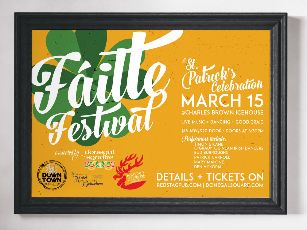FAILTE FESTIVAL • 17x11 PROMOTIONAL POSTER  WORK: Adobe Illustrator + InDesign