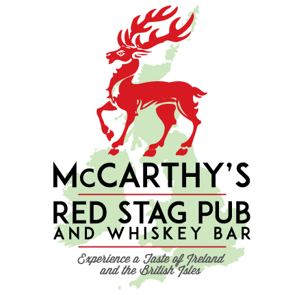 McCarthy's Red Stag Pub • Stacked Website Logo
