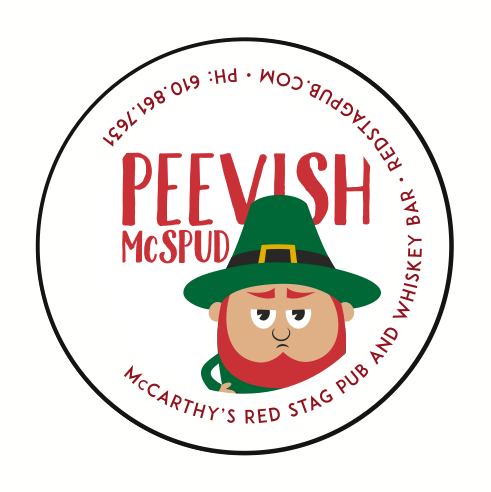 "1"" BUTTONS FOR PEEVISH McSPUD"