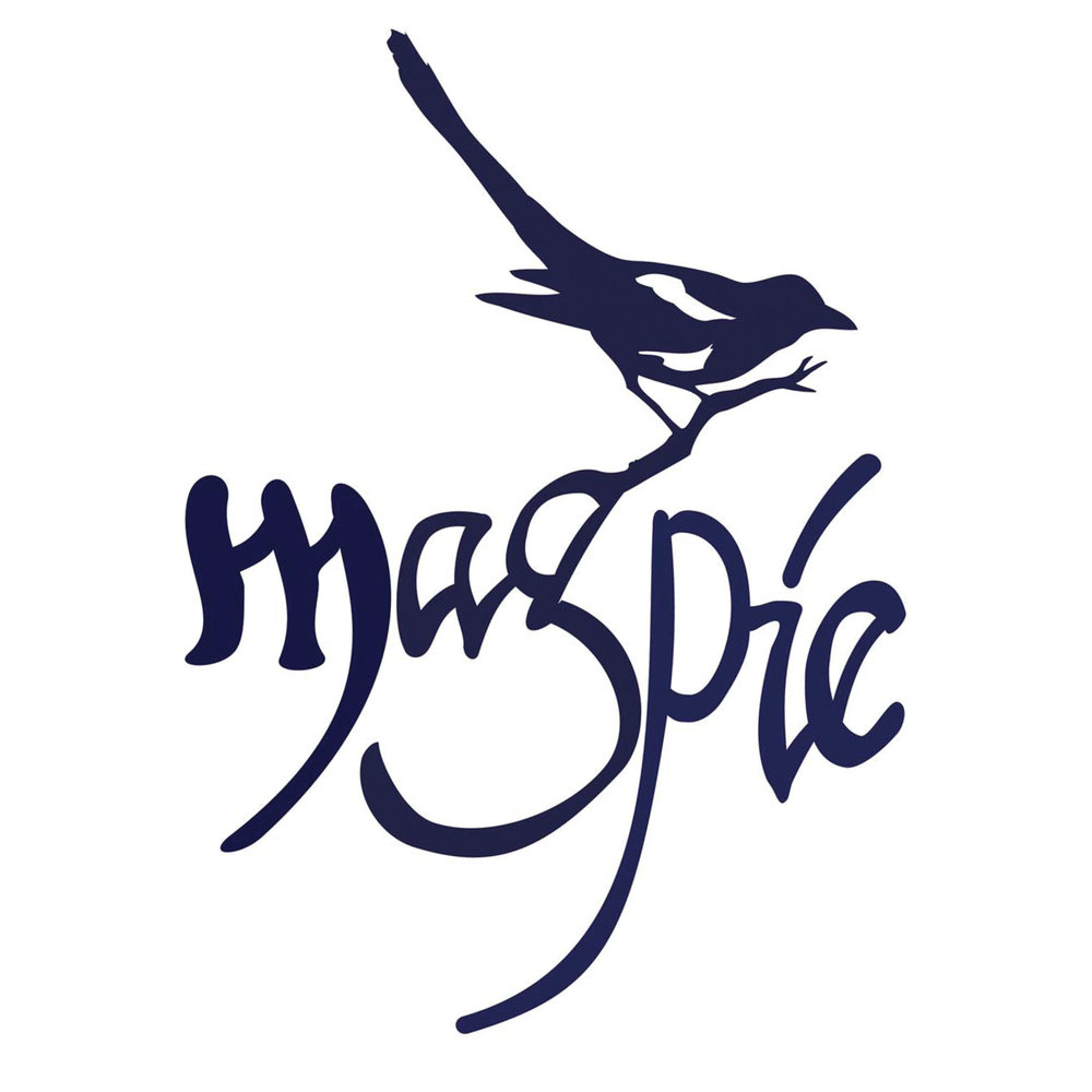 MAGPIE MEDIA • CONCEPT LOGO  CLIENT: MAGPIE LLC. BRIEF: Design a logo using the British Magpie bird. Keep it stylized but with personality. WORK: Adobe Illustrator