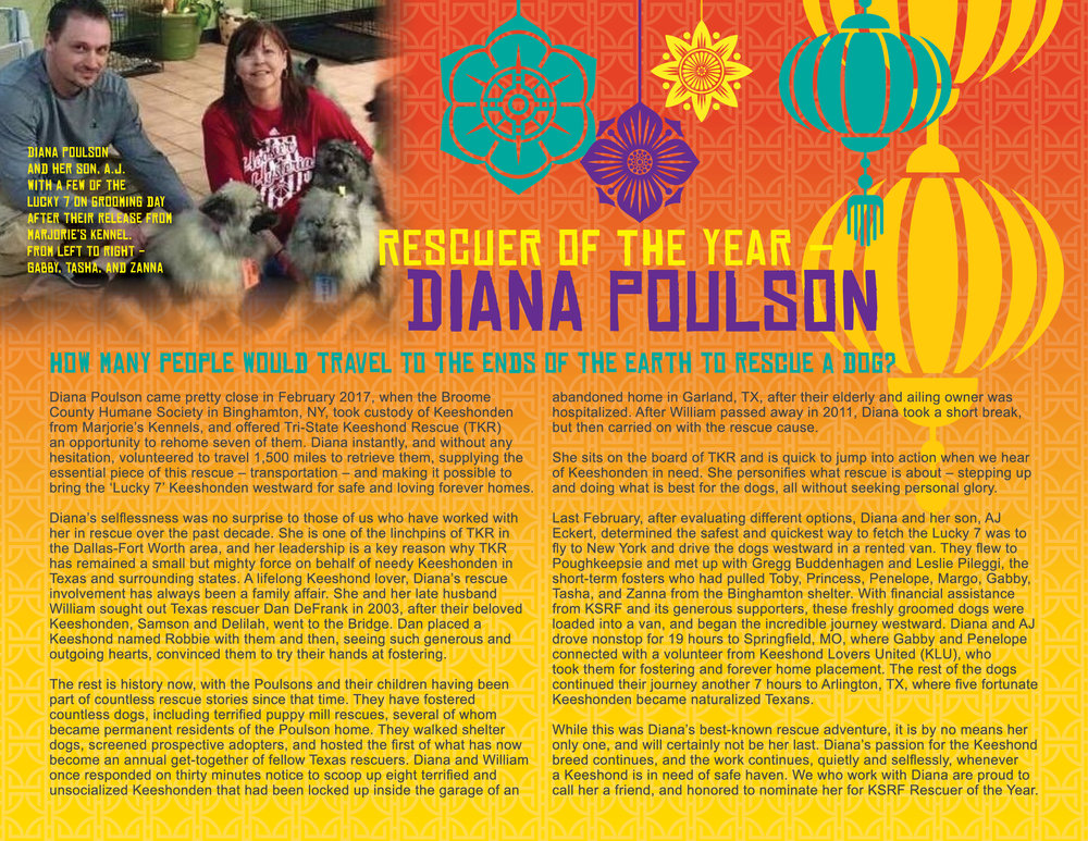 2018 Rescuer of the Year • Diana Poulson