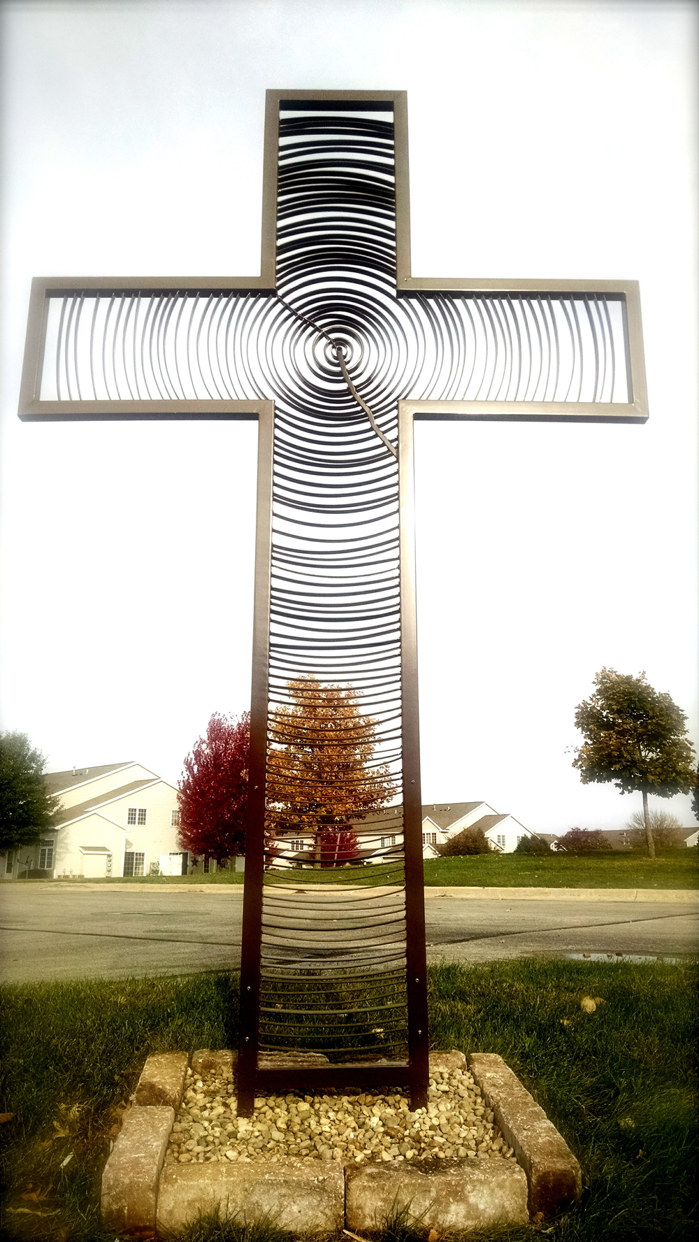 Memorial in Marion, Iowa. 2015.  9' Tall. This was for a man who planted thousands of trees in his life.  79 concentric growth rings- one for each year of his life.