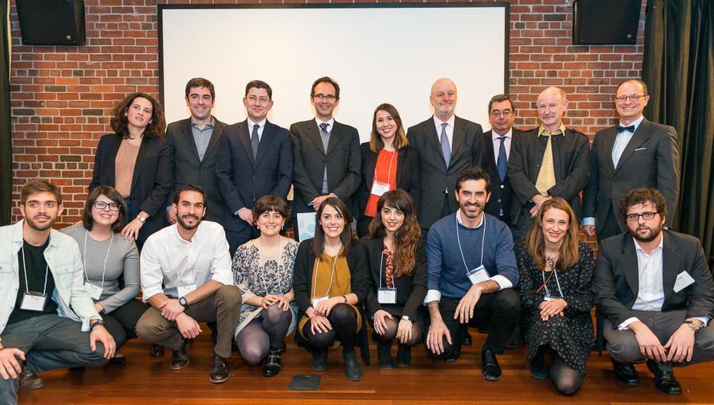Equipo de ECUSA-NY junto a representates institucionales. / Luis Gracia