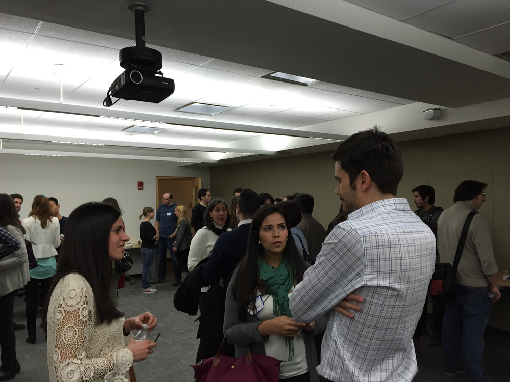 Networking after Lauren's talk. CIC, Cambridge, MA. March 16th, 2015.