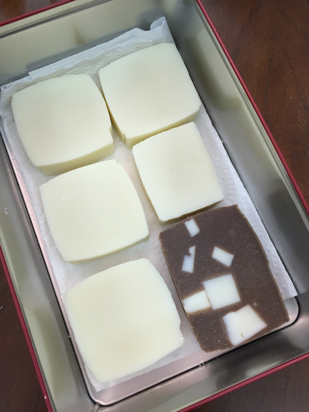 White: Marseille Soap; Brown: Coffee Coconut Soap with Marseille Soap cubes