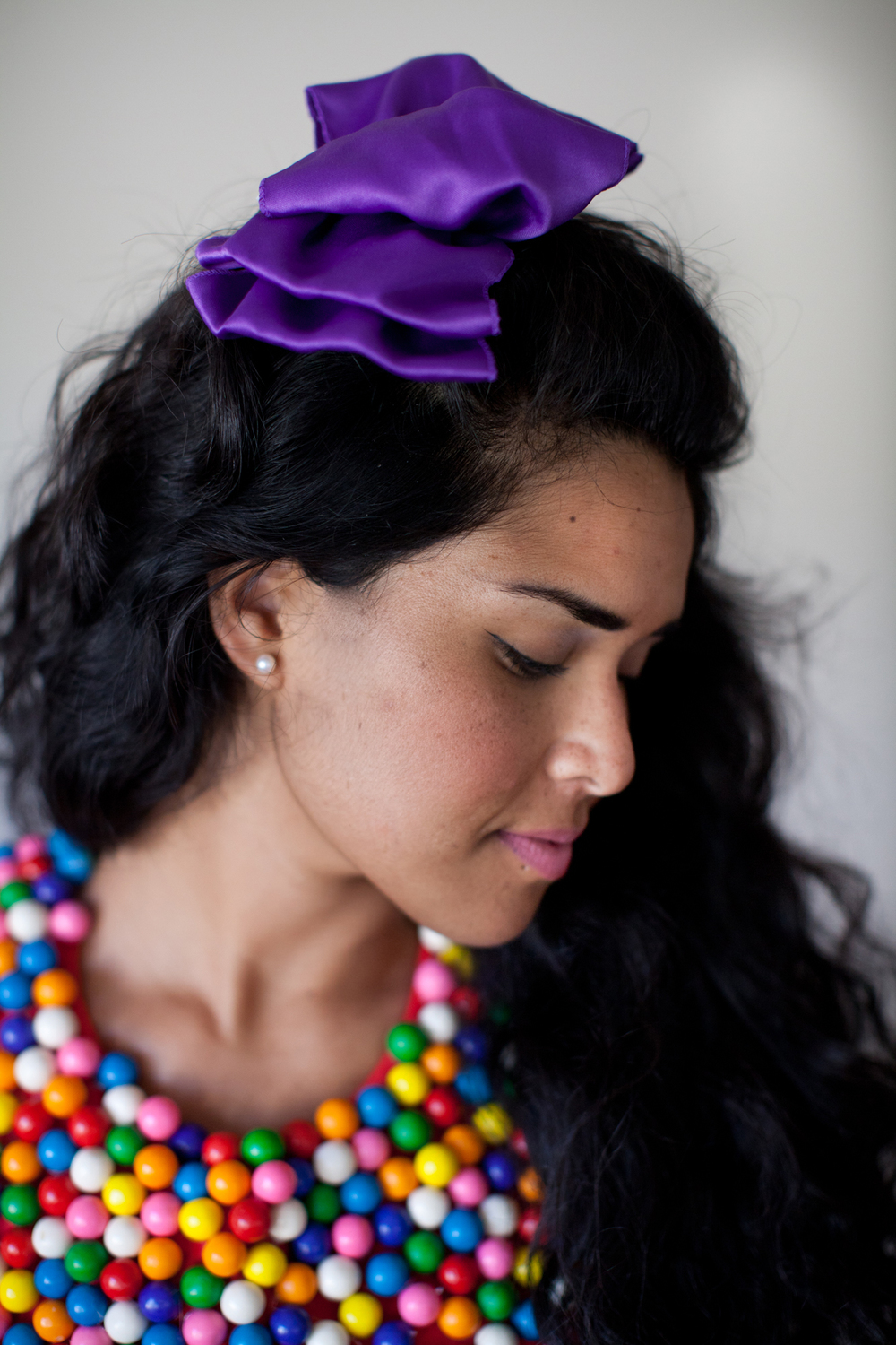 Add some color to your hair! We liked using a colorful bow avaliable at Rax Clothing