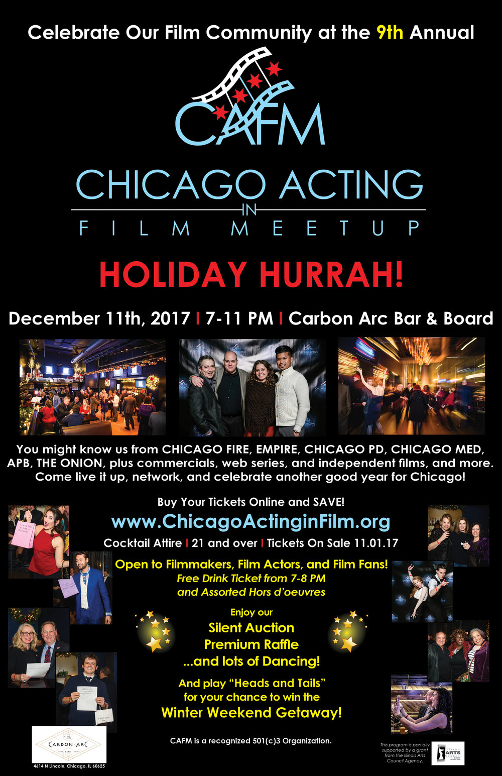 2017 CAFM Holiday Hurrah Poster