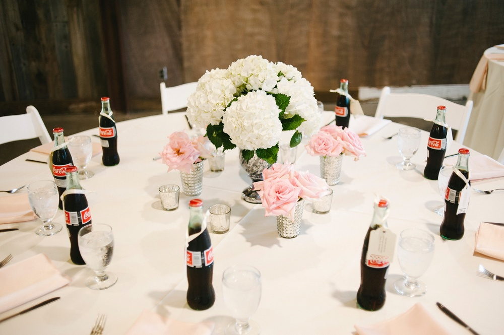 hydrangea and rose centerpiece - studio 3 floral design