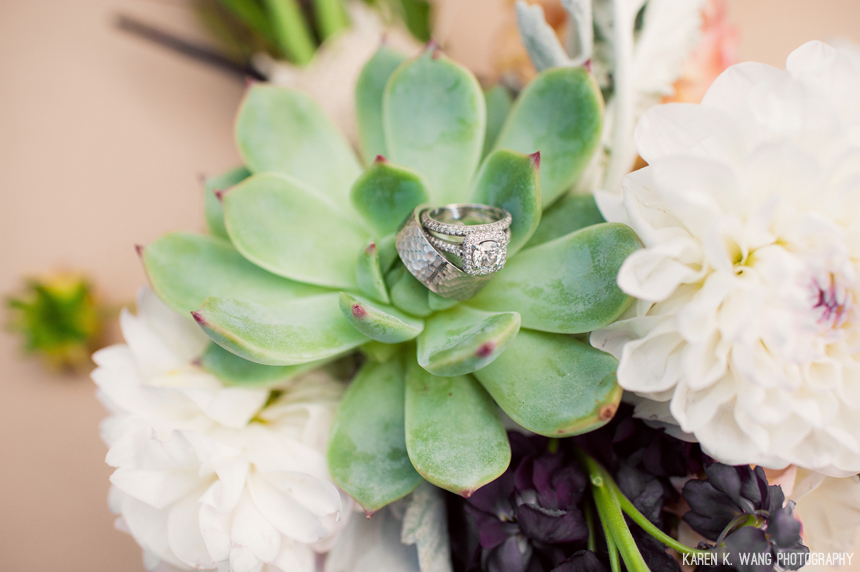 succulent wedding bouquet - studio 3 floral design