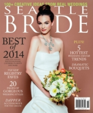 "Seattle Bride Magazine, Fall/Winter 2014, Real Wedding ""Yuko and Dustin"""