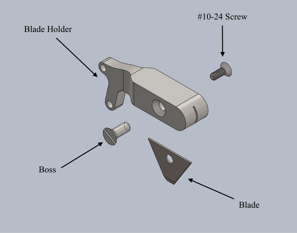 CAD Blade Holder Exploded View