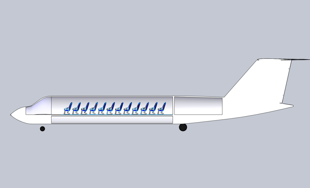 Seat Layout: 50 pax for regional airline variant.