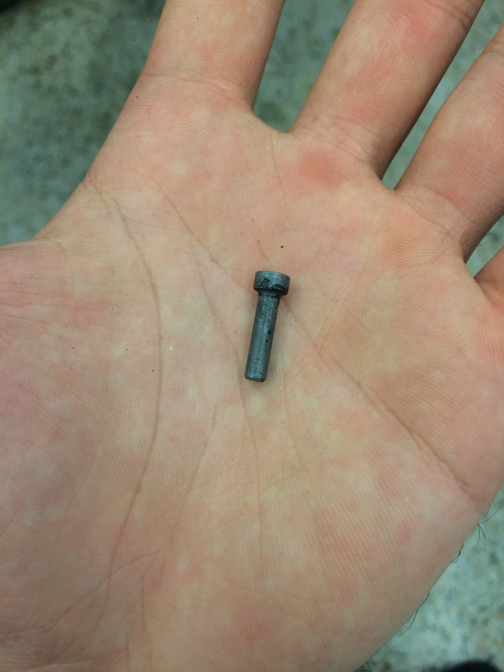 The hardened pin