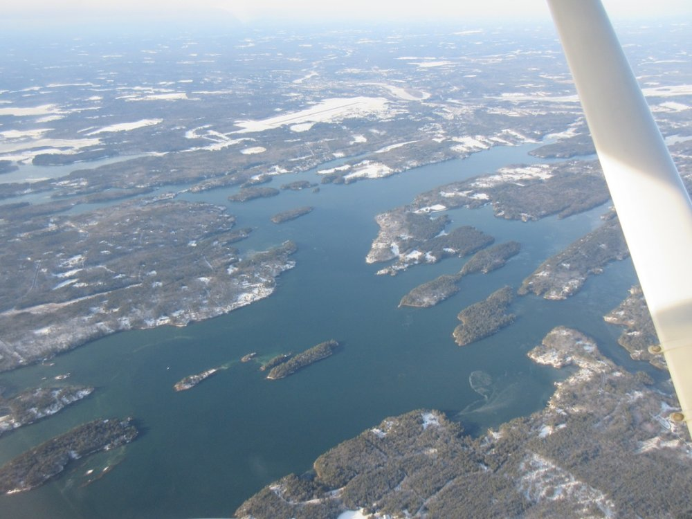 The Maine coast is dotted with islands.
