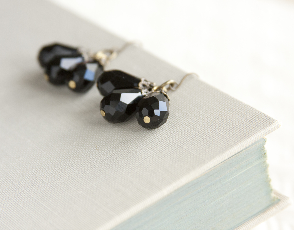 BAC for Renee Black Crystal 3 drops Earrings1.jpg