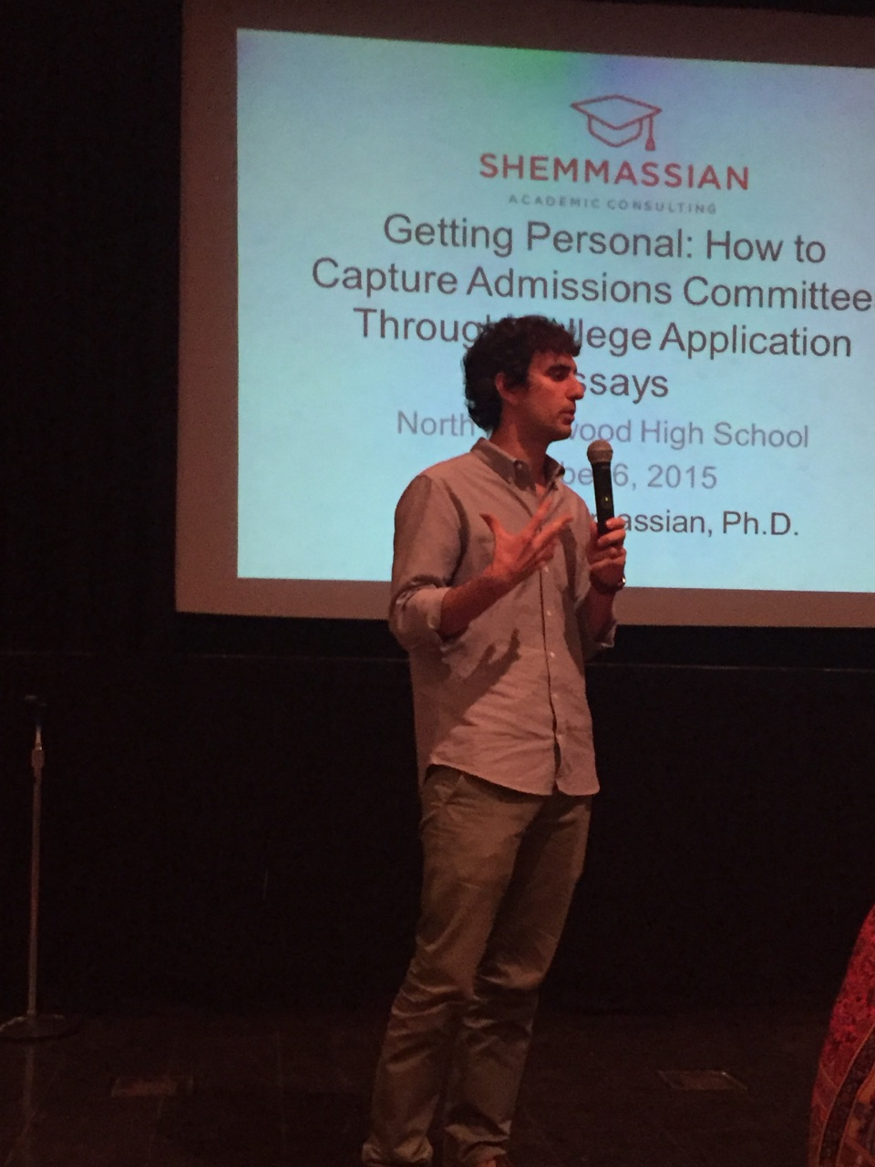 Speaking at North Hollywood High School